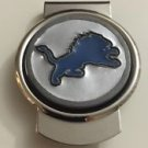 NFL Detroit Lions Stainless Steel Money Cash Clip Holder Authentic New