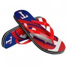Texas Rangers MLB Unisex Big Logo Flip Flops Size X-Small High Quality
