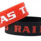 Texas Tech Red Raiders Rubber Bracelets 2 Pack Silicone Wristbands Licensed New