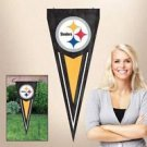 NFL Pittsburgh Steelers Yard Wall Pennant Applique Embroidered Indoor Outdoor