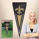 NFL New Orleans Saints Yard Wall Pennant Applique Embroidered Indoor Outdoor New