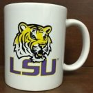 NCAA LSU Tigers White Ceramic Coffee Mugs Cups 12OZ w Handle Authentic New