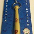 MLB Philadelphia Phillies Bat Keychain Keyring With Bottle Opener Authentic New