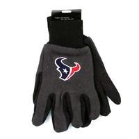 Houston Texans Sport Garden Utility Grip Gloves Work Winter 2 Tone New Licensed