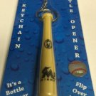 MLB Miami Marlins Bat Keychain Keyring With Bottle Opener Authentic New