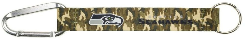NFL Seattle Seahawks Camo Lanyard Carabiner Keychain Keyring w Clip Licensed New