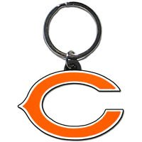 NFL Chicago Bears Flex Keychain Keyring Team Color PVC Authentic New