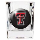 NCAA Texas Tech Red Raiders Shot Glass Crystal Coat Logo Licensed New Great Gift