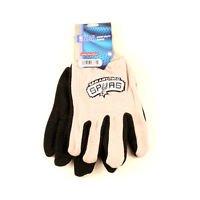 San Antonio Spurs Sport Garden Utility Grip Gloves Work Winter 2 Tone New