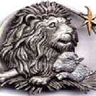 Lion and Lamb Christmas JJ Jonette Pewter Pin
