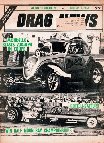 Drag News 1 5 68 top fuel Drag Racing Snake OCIR Dick Harrell funny car Dyno Don