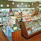 Drug Store interior postcard Babis Pharmacy Merion PA postcard Chrome Mint never mailed