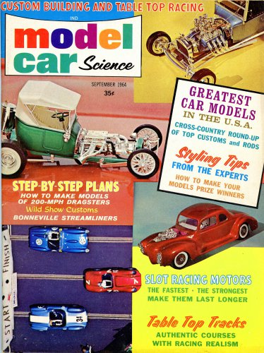 Model Car Science magazine 9 64 slot car racing Model Building dragsters Dream Cars