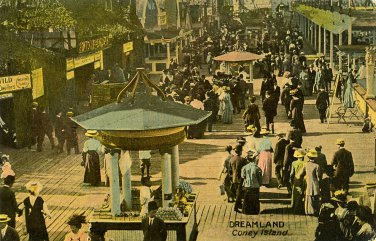 Dreamland Coney Island Brooklyn NY postcard never mailed early 20 century amusement park