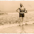 Bathing Beauty real photo postcard European circa 1924 mint