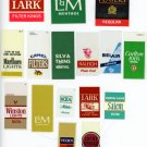 Cigarette vending machine labels 16 pieces  all different brands