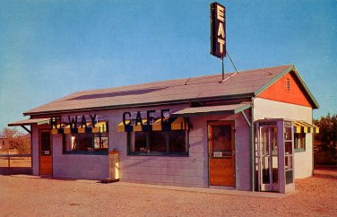 Hiway Cafe Pochacho AZ postcard restaurant mint never mailed