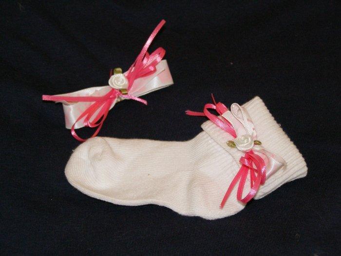 Princess hairbow and matching socks