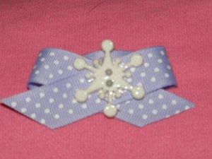 snowflakes and polka dots