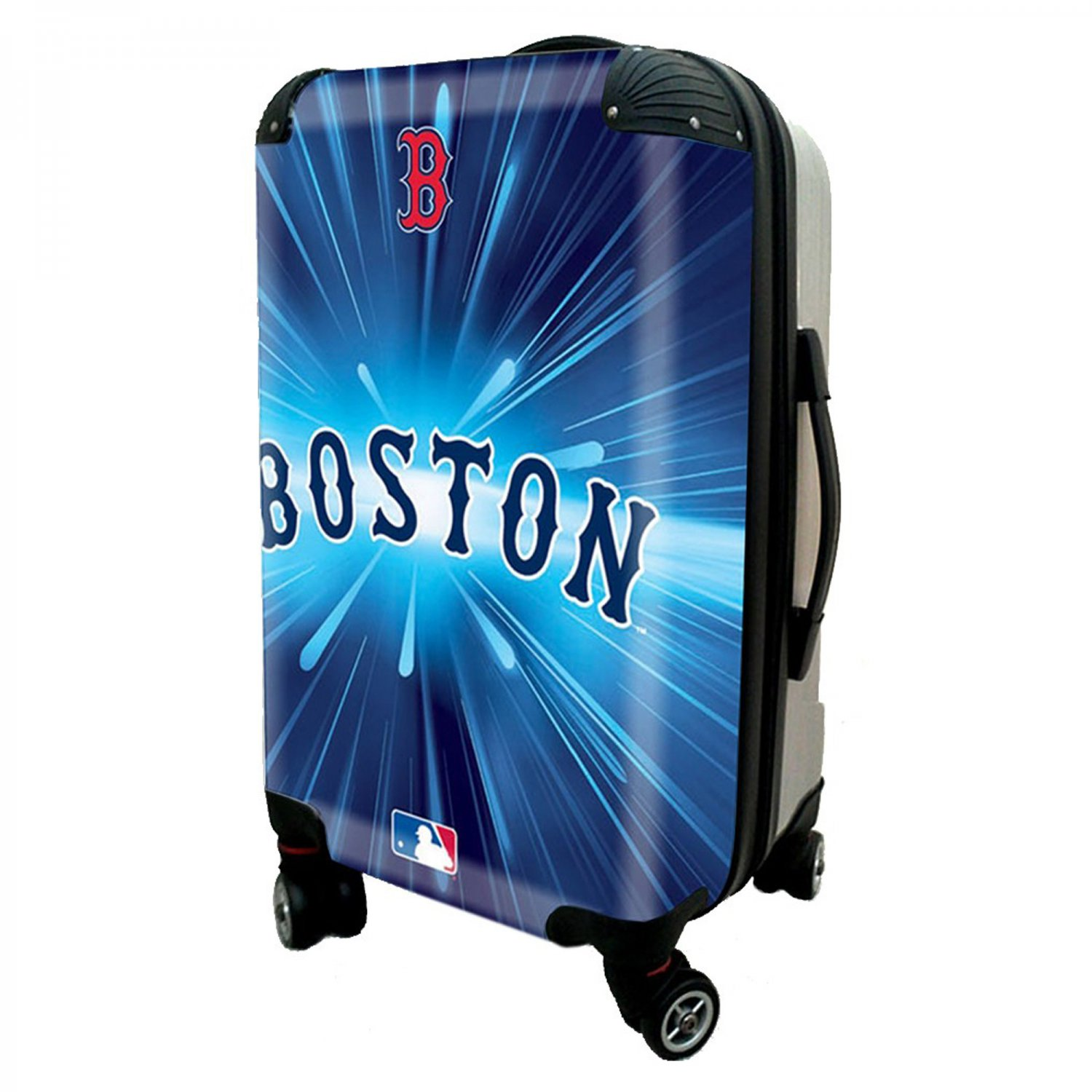 "Boston Red Sox, 21"" Clear Poly Carry-On Luggage by Kaybull #BOS5"