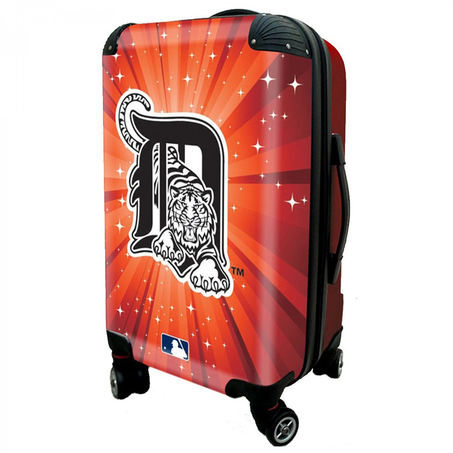 """Detroit Tigers, 21"""" Clear Poly Carry-On Luggage by Kaybull #DET13"""