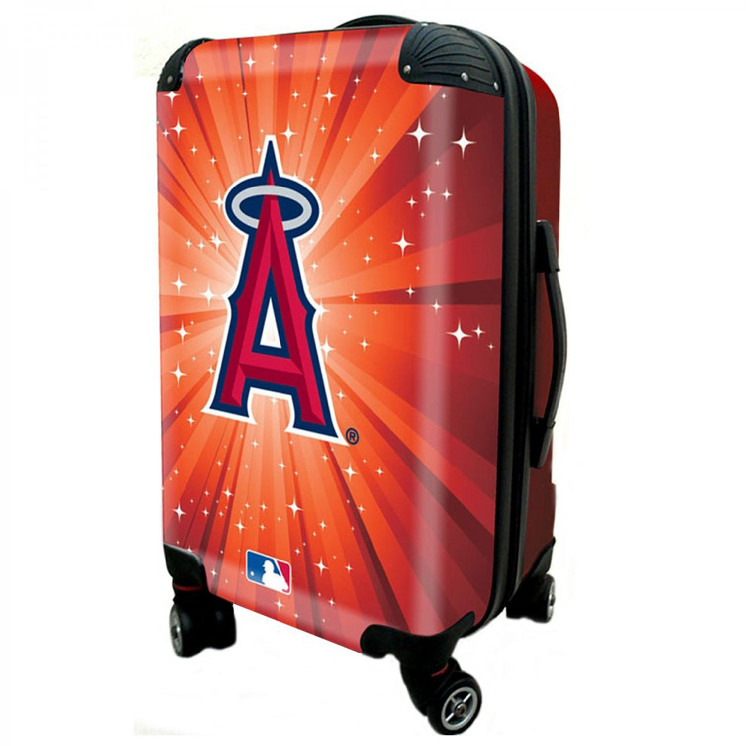 "Los Angeles Angels, 21"" Clear Poly Carry-On Luggage by Kaybull #LAA13"