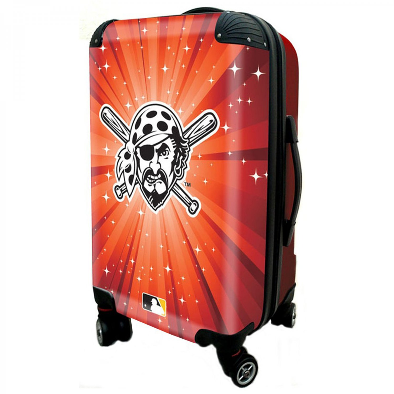 """Pittsburgh Pirates, 21"""" Clear Poly Carry-On Luggage by Kaybull #PIT7"""