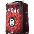 "Texas Rangers, 21"" Clear Poly Carry-On Luggage by Kaybull #TEX15"