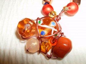 Copper Illusion Wire Wrap Necklace