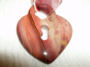 Picture Jasper Heart Lock Necklace