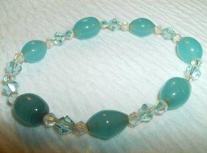 Turquoise & Czech Beaded Bracelet