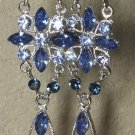 Crystal Blue & Silver Swarovski Earrings