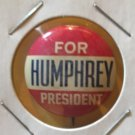 """Humphrey for President"" pinback button 1968"