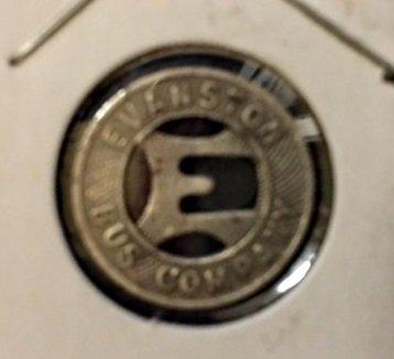1939 evanston bus company transit token