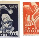 2 Charity Football Poster/Cinderella Stamps