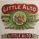 Little Alto Inner Cigar Box Label