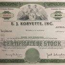 E. J. Korvette, Inc. Stock Certificate