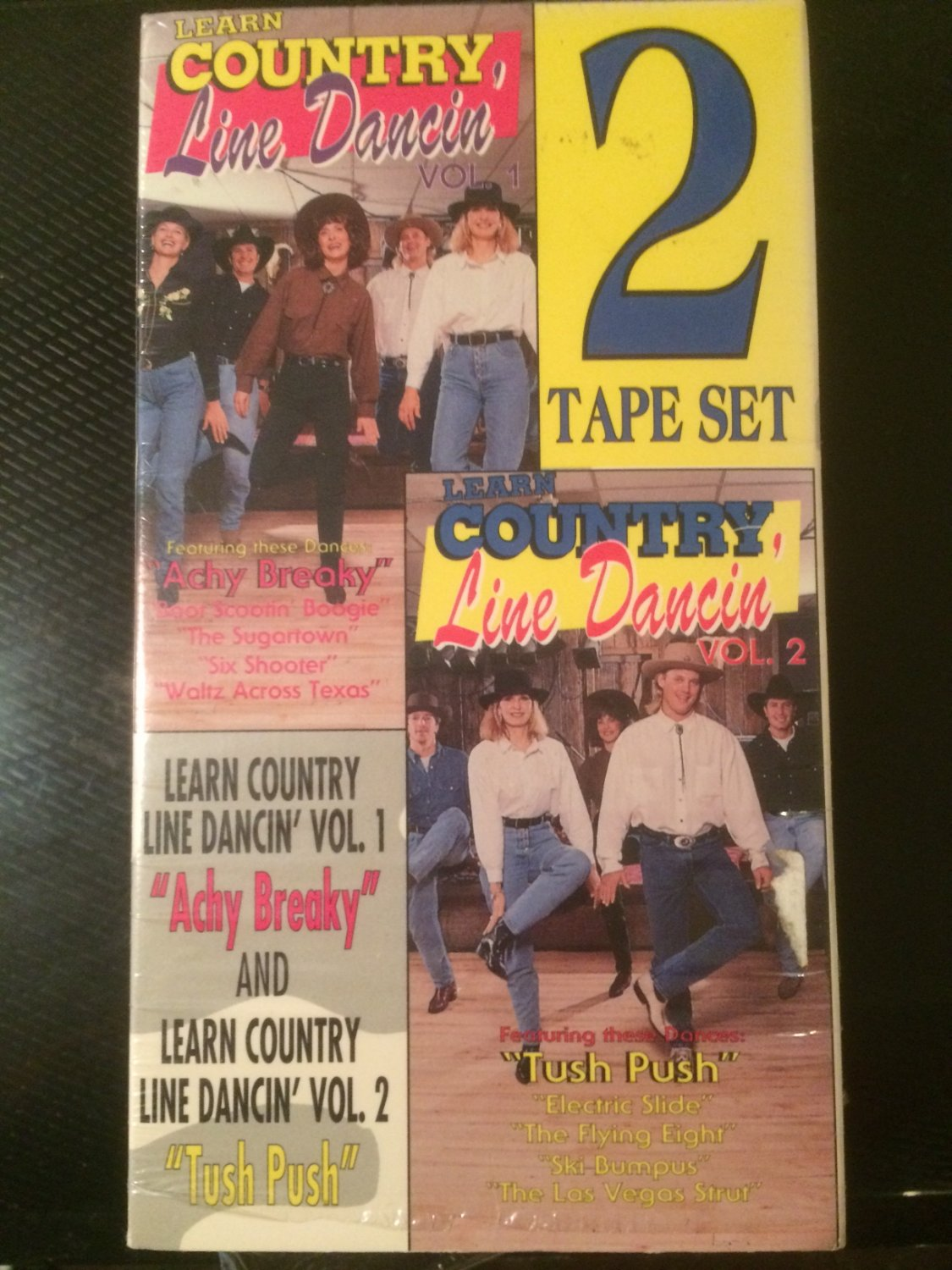 VHS - Learn Country Line Dancin', Vol. 1 & 2 (2 Tapes) - Used - NOT ON DVD!