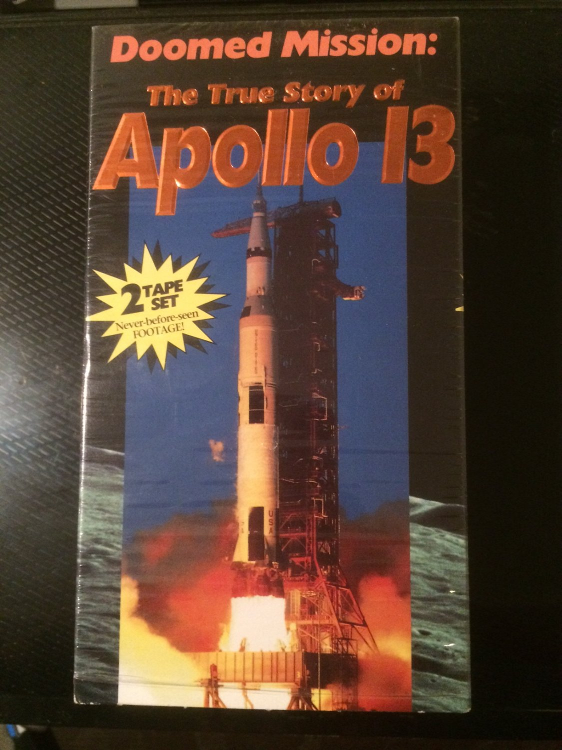 VHS - Doomed Mission: The True Story of Apollo 13 (2 Tapes) - Used - NOT ON DVD