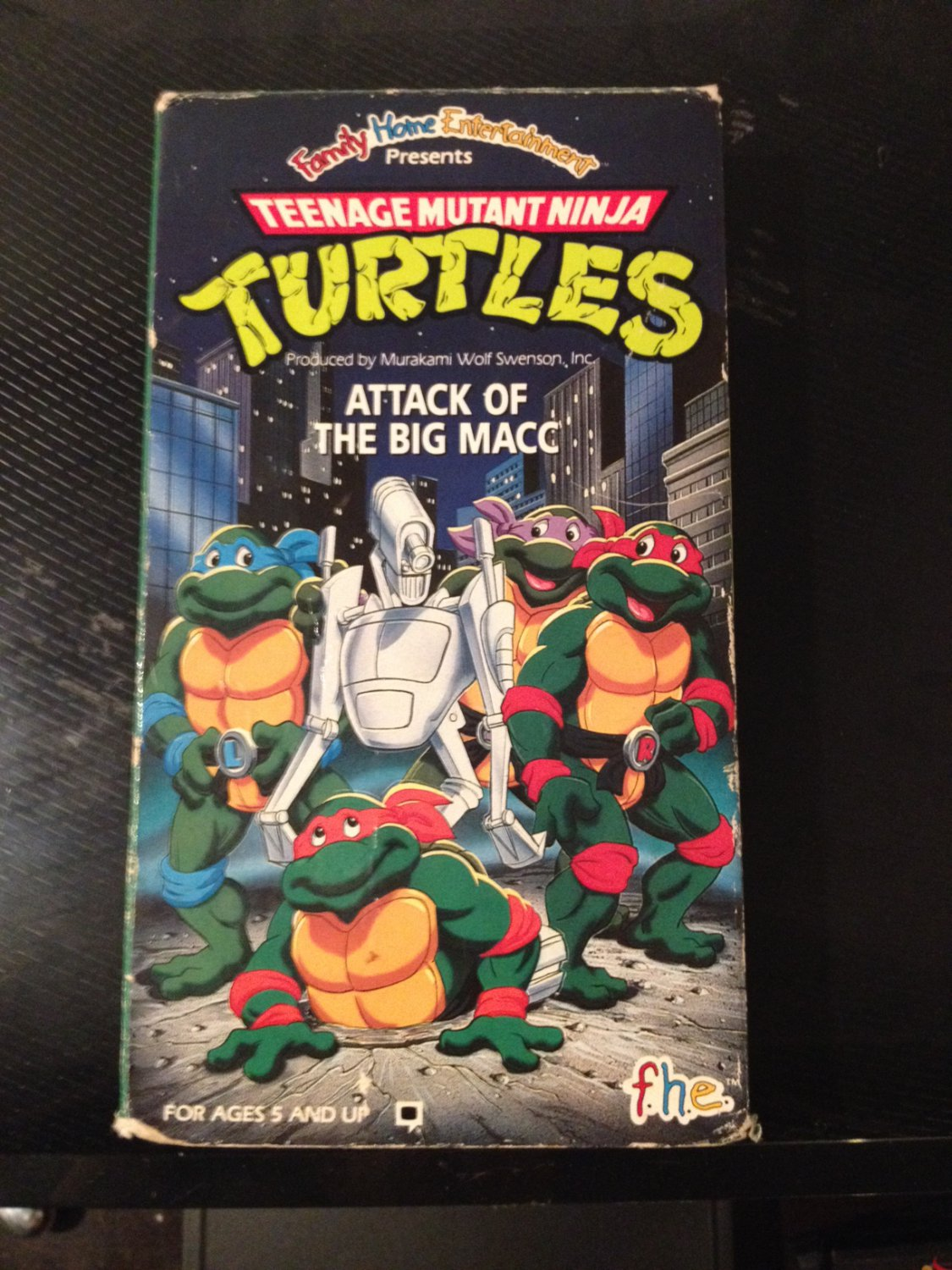 VHS - TMNT: Attack of the Big Macc - Used - NOT ON DVD