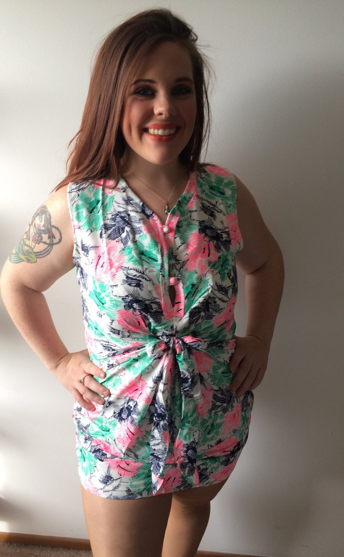 "Clothing - Multi-Color Floral Print ""Watercolor Sketches"" Dress - Medium"