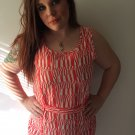 Clothing - Abstract Orange Vintage Patterned Dress - Small