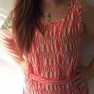 Clothing - Abstract Orange Vintage Patterned Dress - Medium