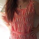 Clothing - Abstract Orange Vintage Patterned Dress - Medium