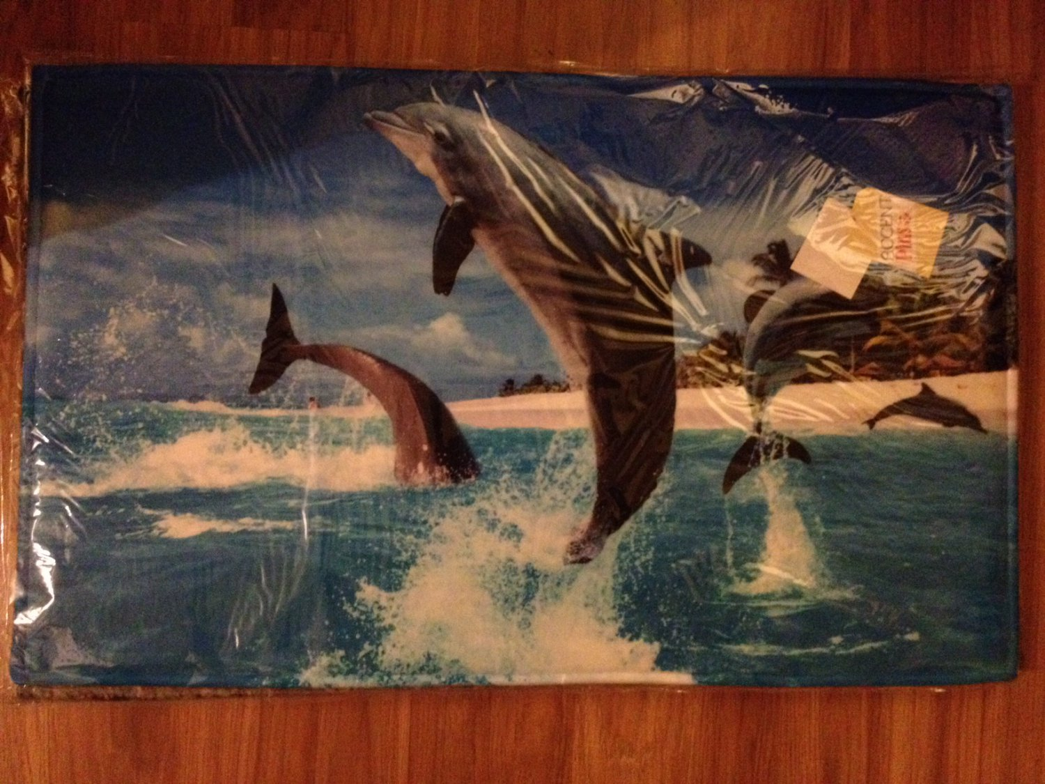 Tropical Dolphins Memory Foam Floor Mat - NEW