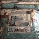 NEW Bedding - Eleana 12-Piece Floral Bedding Set - KING