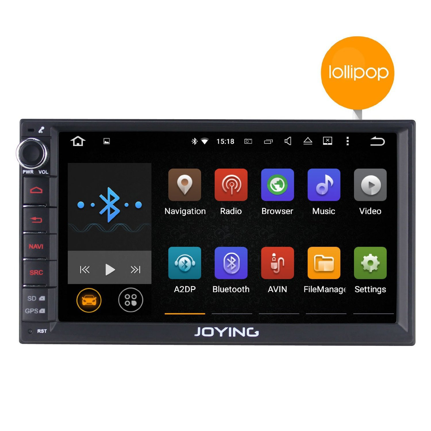 "JOYING 7"" Android 5.1 Lollipop Quad Core Double 2 Din Car Stereo Touch Screen"