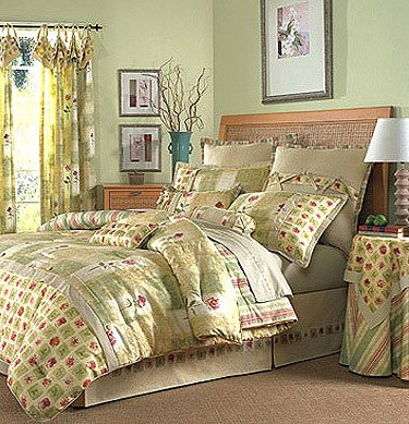 New WAVERLY RUE D'ORLEANS SAGE Queen Comforter Set Clearance SALE FREE SHIPPING