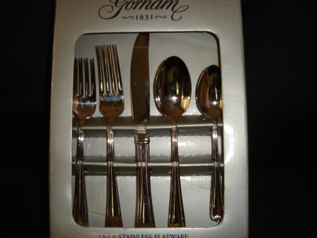 GORHAM Spring Bud 18/10 Stainless Flatware 20 PC Set Service for 4  - SALE 55% OFF Tulip Design