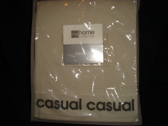 JC Penney Khaki Twill Chino Tailored Twin Bedskirt Beige 100% Cotton SALE $9.99